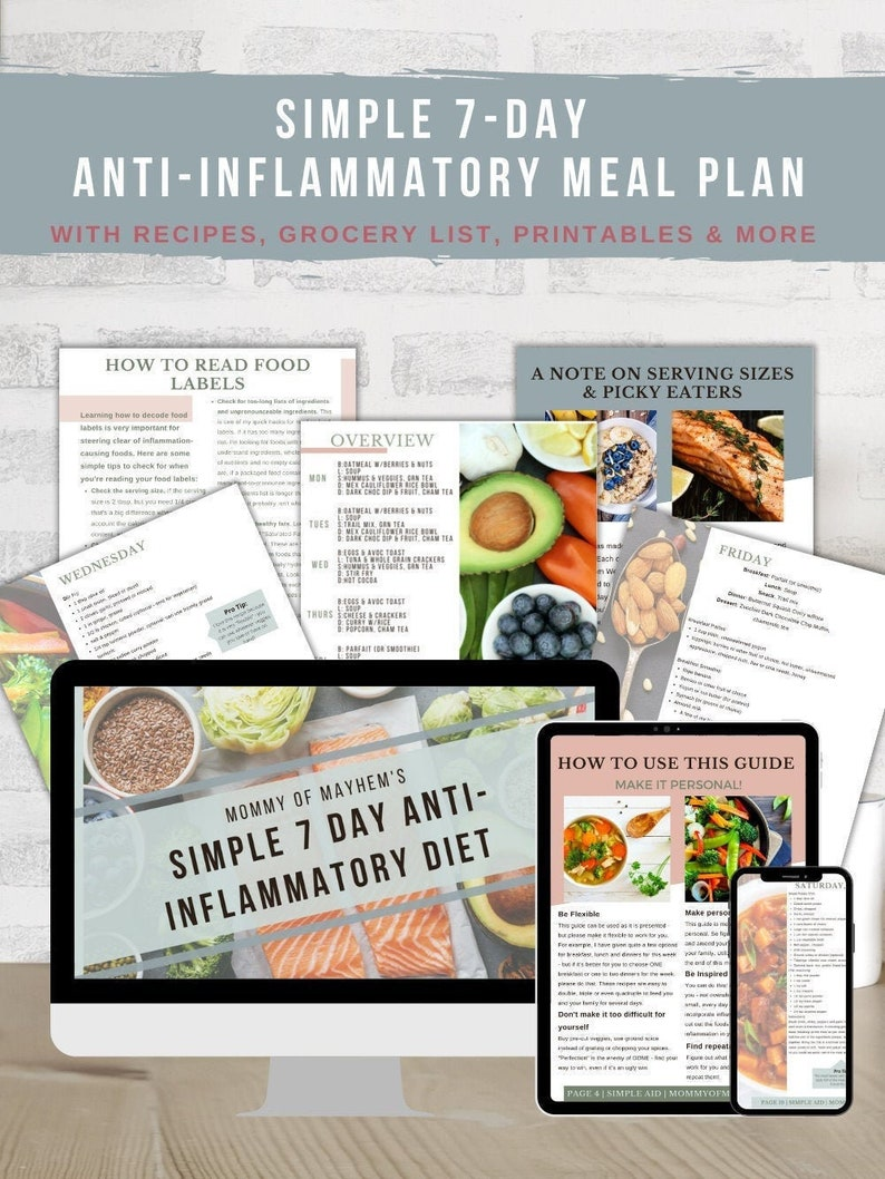 Simple 7-Day Anti-Inflammatory Diet Meal Plan image 0