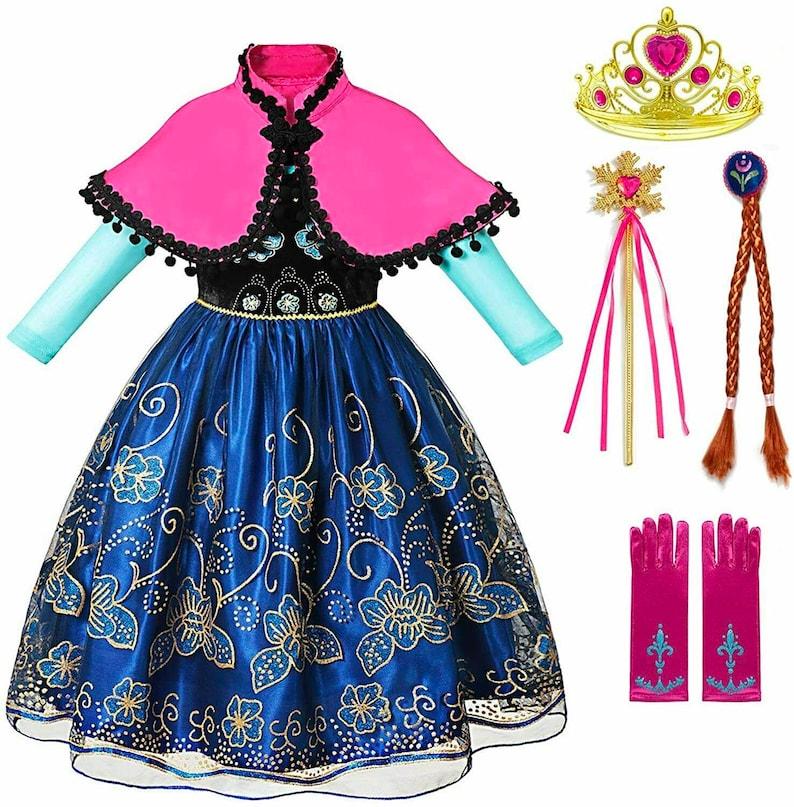 Disney Inspired Frozen Anna Coronation Princess Dress