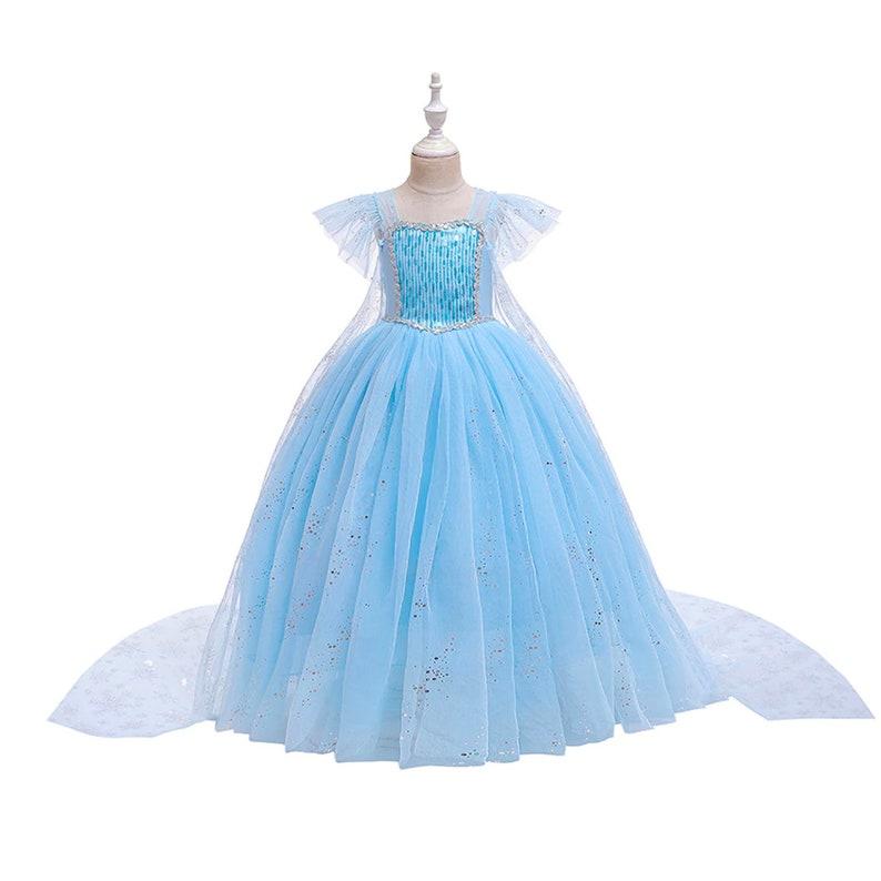 READY TO SHIP Disney Inspired Elsa Frozen Princess Dress Costume Set