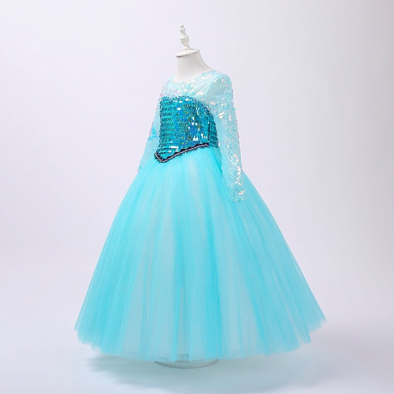 READY TO SHIP Disney Inspired Frozen Elsa Princess Dress