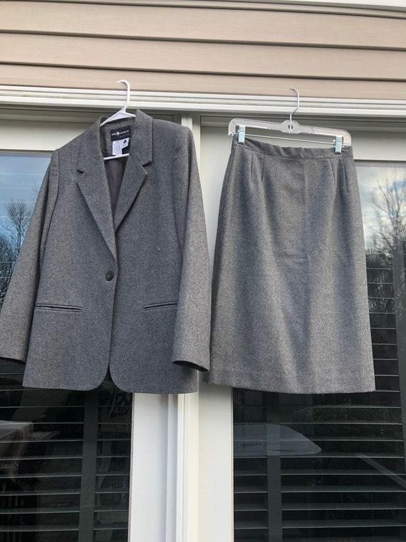Vintage 90s Wool Skirt and Blazer Set Vintage Wool