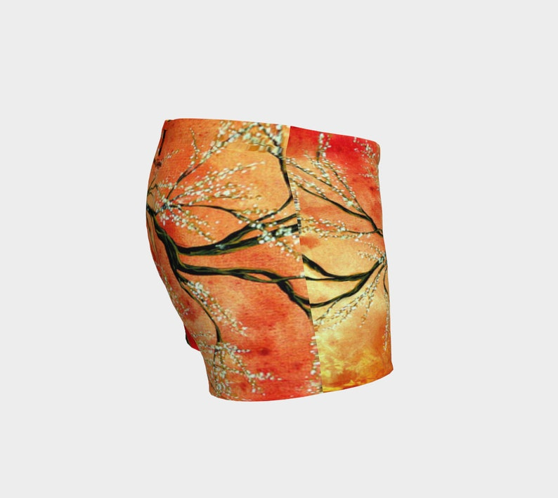 Red Blaze Women/'s Gym Shorts Workout Fitness Clothing