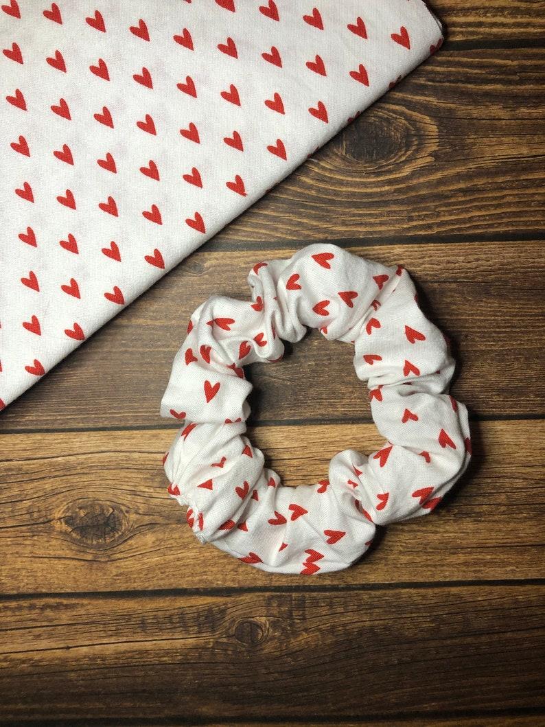 Hearts Hair Scrunchie