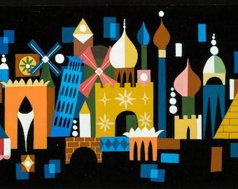 "Mary Blair ""It's a Small World"" concept art print (1963) - Mary Blair print"
