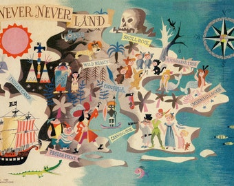 Never Neverland - Peter Pan Mary Blair Print - Mary Blair art