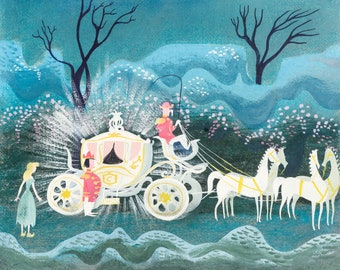 Cinderella - Mary Blair concept art print.  (Disney Studios) - Mary Blair art