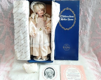 Blackface Lamb 14 tall Wimpole Street Creations  Mary Had A Little Lamb Clothes Pattern Stuffed Animal Doll Cloth Body and Brass Bell