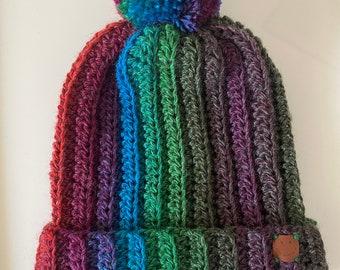 Handmade Crochet Bobble Hat