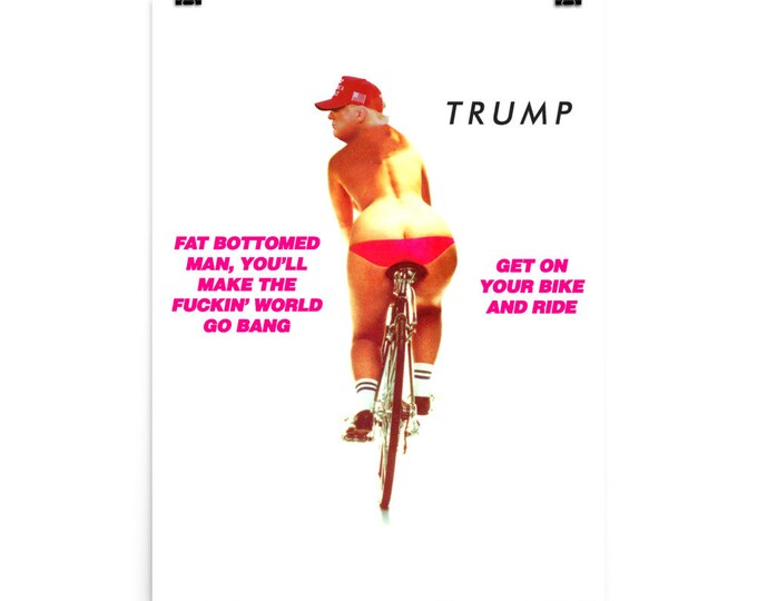 Featured listing image: Political Poster: Trump - Get on Your Bike and Ride