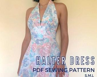 Halter Dress Sewing Pattern PDF S-L