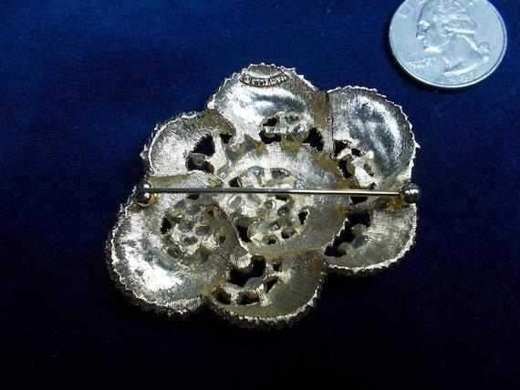 932 Vintage Marvella Pearl & Rhinestones Goldtone… - image 2