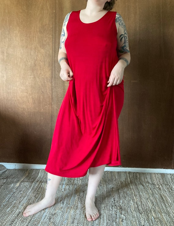 Slinky Stretchy Bright Red Party Dress//M-XL