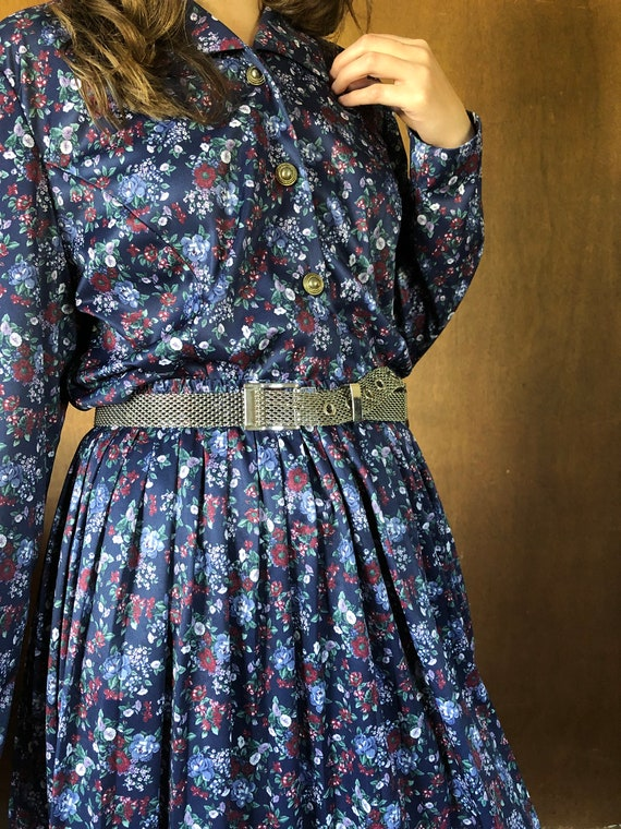 Western Floral 80's Matching Skirt and Top Set//S-