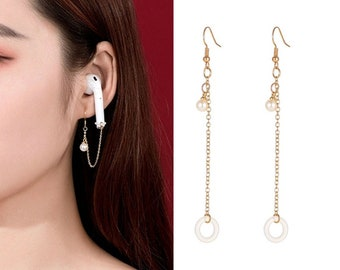 Set / 4 Pair Anti-Lost Titanium steel Ear Clip Cuff Earrings For Apple Airpods Earphone