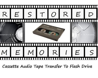 Cassette Audio Tape Transfer to Flash Drive