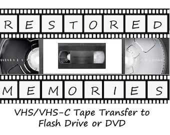 Video Tape Transfer (vhs and vhs-c) to USB Flash Drive (Cost of Flash Drive not included)
