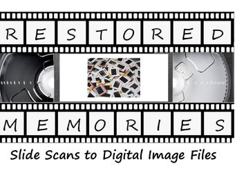 50 Slides (35mm, 110 & 126) Scanned to Digital (Price per 50 Slides - Flash Drive Not Included)
