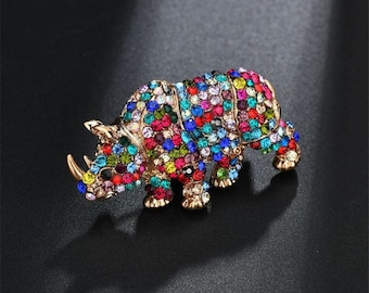 Handmade brooches Rhinoceros  brooches Unique brooches