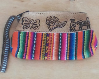 Beautiful hippie bag with ethnic designs and colours worked by artisansPeruvian art