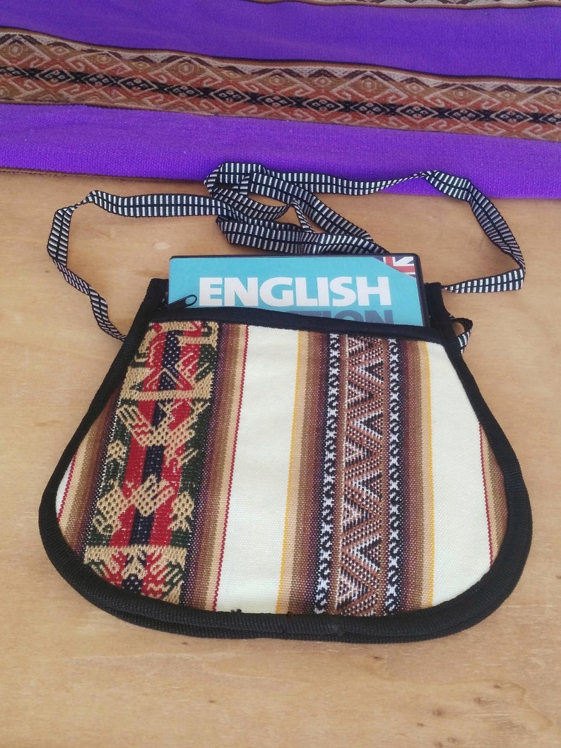 Bohemian bag  with beautiful ethnic designs and Andean coloursPeruvian art