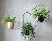 Hanging Planter Metal Plant Hanger, Simple Modern Planter, Hanging Planters for Indoor Plants, Home Decoration Hanging Flower Pot