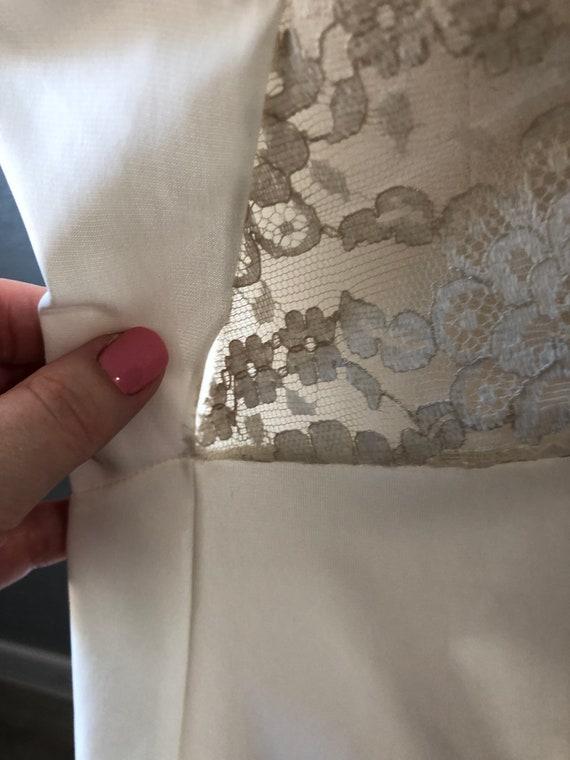 Vintage Van Raalte Full Slip, White Lacy Full Dre… - image 6