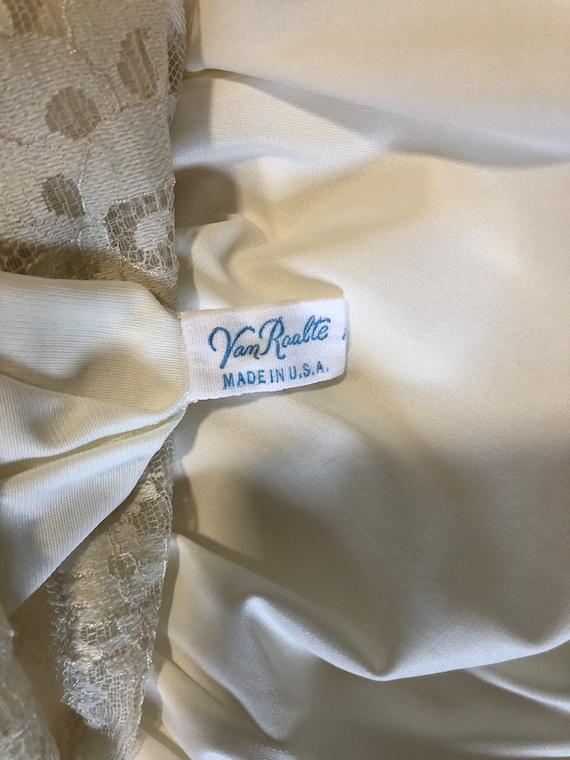 Vintage Van Raalte Full Slip, White Lacy Full Dre… - image 5