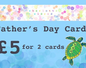 Father's Day Card Bundle - special offer card bundle - pack of 2 cards - cards for him - Dad cards - Daddy card - Fun Dad Greetings card