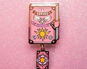 Sakura Book | Magical Girl Essentials | Hard Enamel Pin