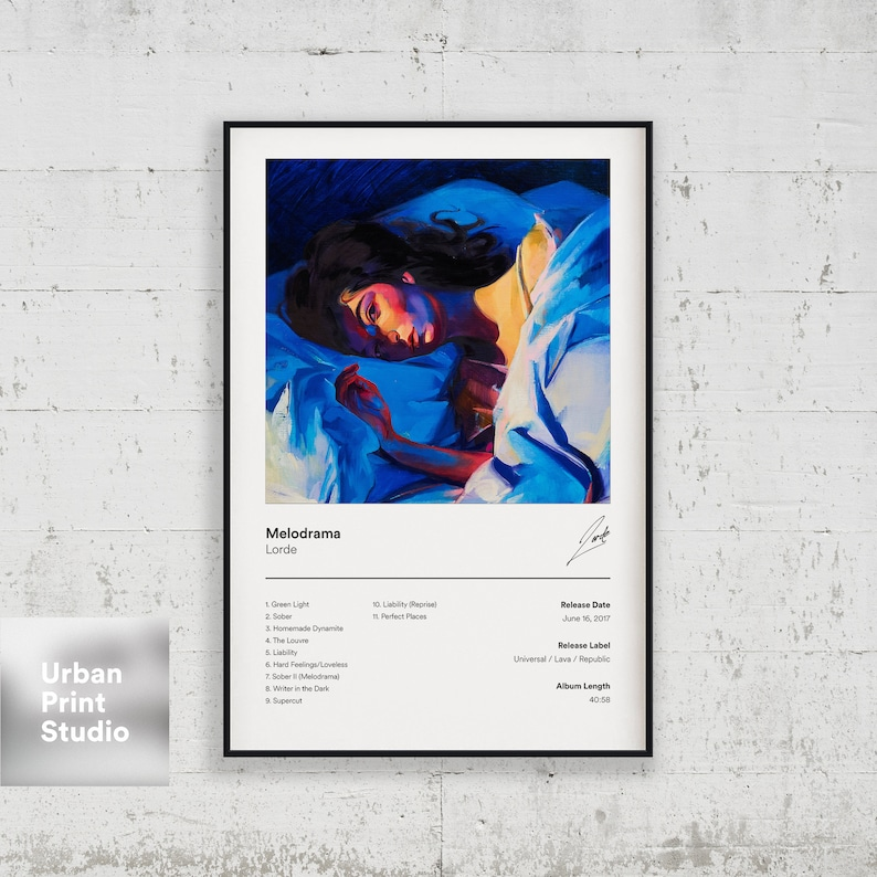 Lorde Poster Melodrama Album Cover Poster Print Lorde   Etsy