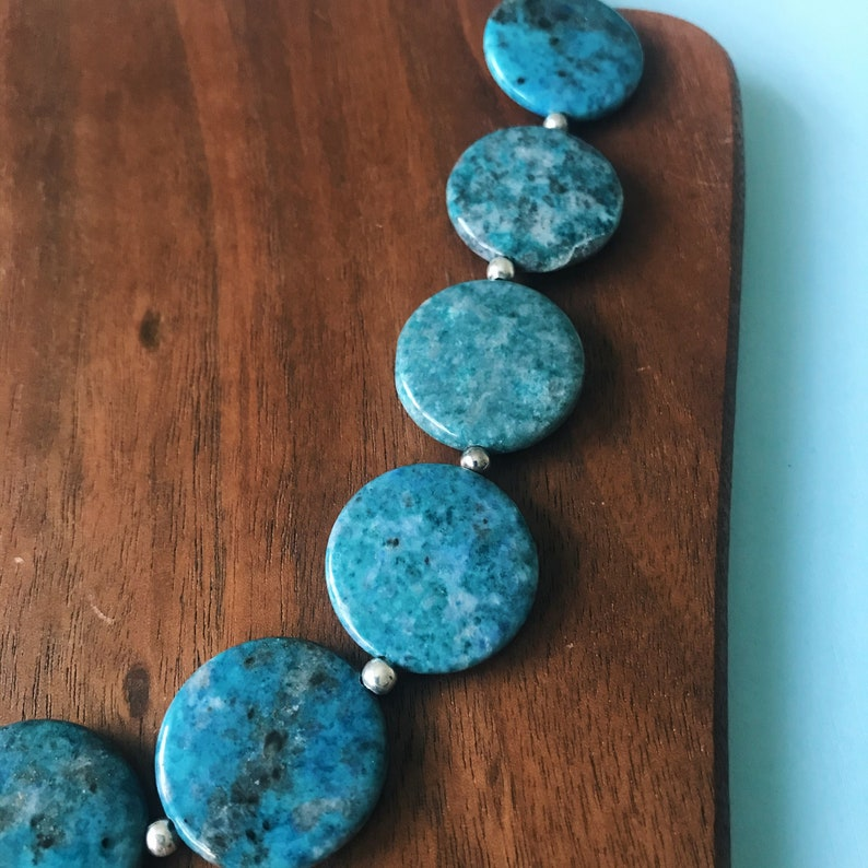 Blue Apatite Beaded Necklace