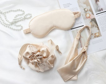 3 pc Mask Gift Set Stocking Stuffer 100/% Silk Sleeping Herbal Aromatherapy Satchel /& Ear Plugs = Silent Night Gift Covid Bridesmaid AirBnB
