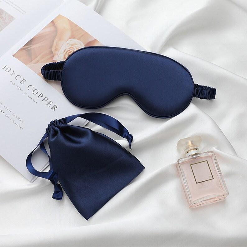 Custom branded digital printing sleep mask and bag set order to made 100set wholesale