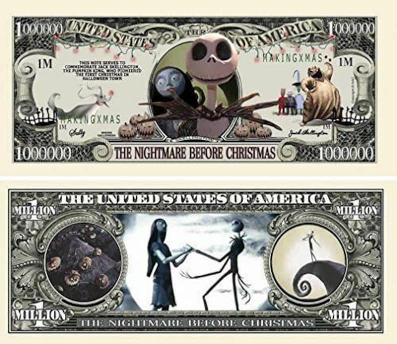 1 x 1 Million Fake Dollar Nightmare before Christmas