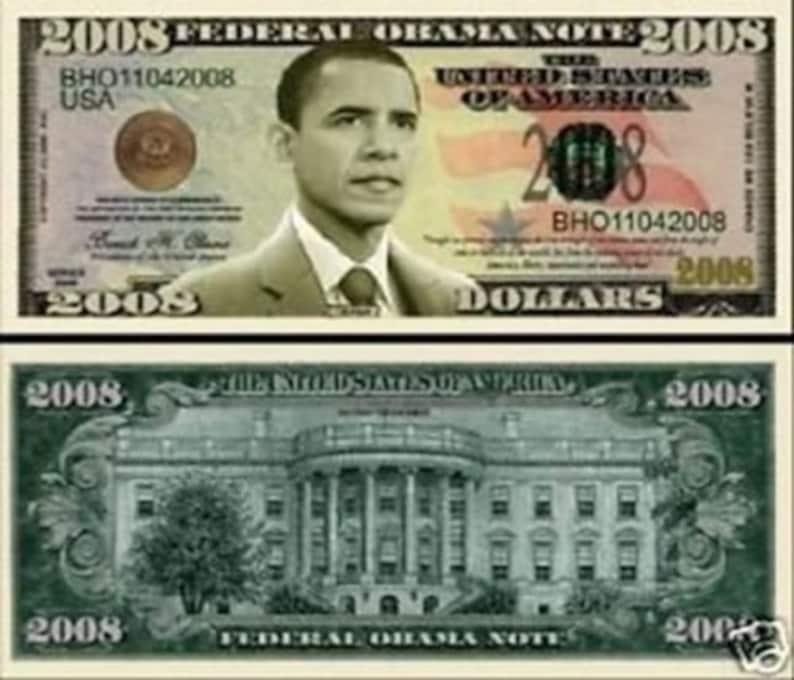 1 x Fake Dollar Barack Obama 2009