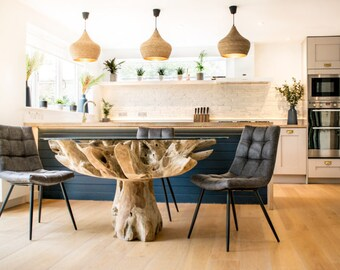 Round Teak Root Dining Table | Coffee Table | Wooden Table | Unique Table | Natural Table | Modern Table
