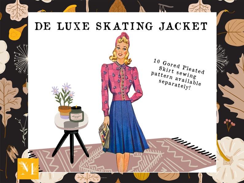 Knitting Pattern De Luxe Skating Jacket Australian Home Journal May 1941 Vintage 1940s Fashion