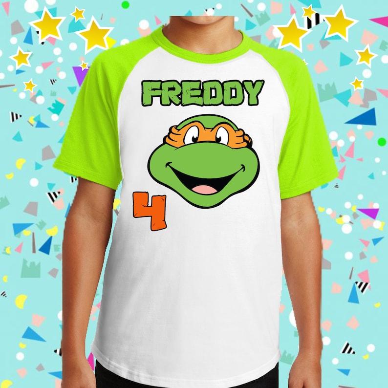 5. Personalized Ninja Turtle Birthday Shirt