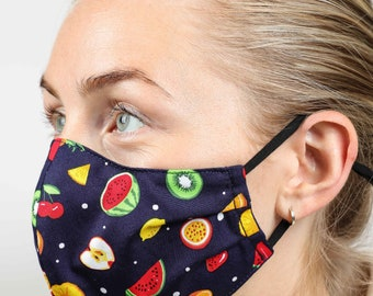 Handmade Face Masks - Attractive designs in a shaped, pleated style; polka dots, camouflage, dogs, zebra, leopard, and more!