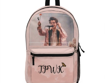FURUN Harry Styles Mochila de Carga USB Estudiante Mochila Escolar Ocio Ordenador Bolsa de Viaje para Hombre Mujer