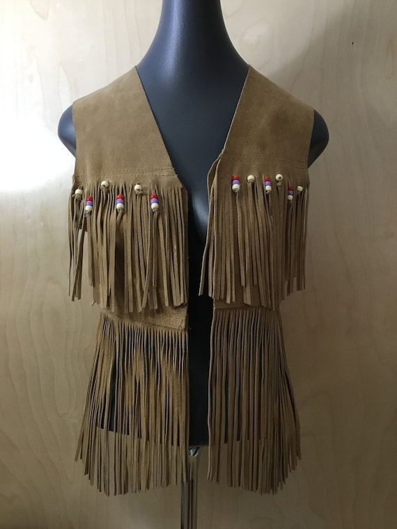1970's Woman's Fringed Leather Vest