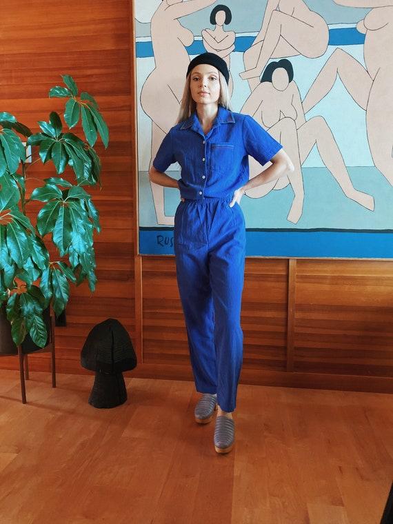 Vintage Blue Pant Suit