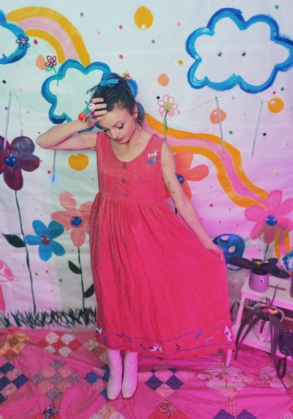 Vintage Pink Dog Dress