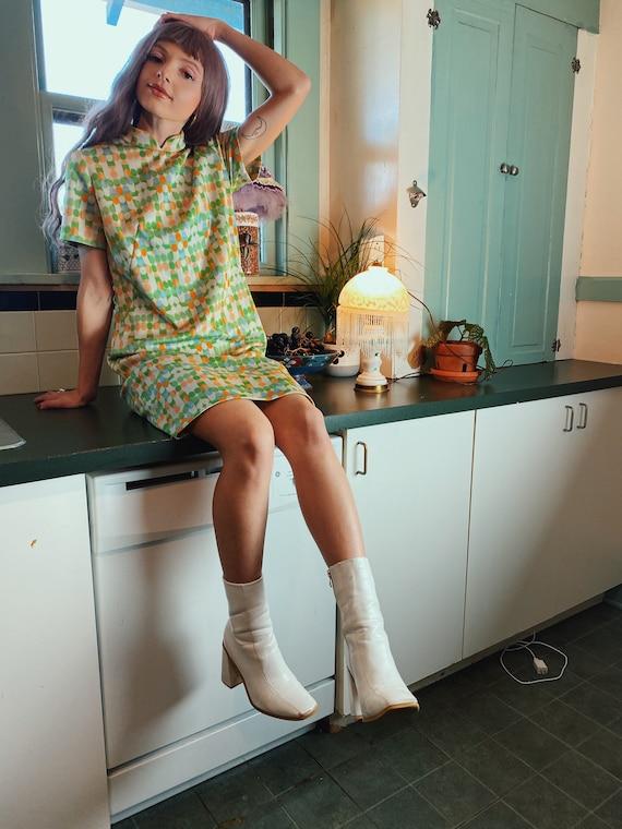 Vintage 1970s Mod Dress