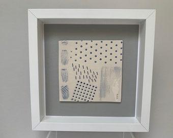 Handmade framed ceramic tile