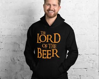The Lord of the Beer Hoodie, Lord of the Rings Inspired Hoodie, Movie Fan Hoodie, Classic Pullover Hoodie, Streetwear Hoodie, Beer Gifts
