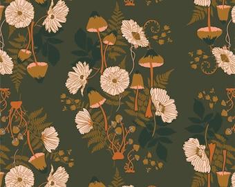 PRE-ORDER | Fern & Fungus Acorn | Wild Forgotten | Bonnie Christine | Art Gallery Fabric |  | Fabric by the yard
