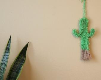 Prickly Yarn Cactus Wall Hang