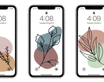 Floral Digital iPhone/Android Wallpaper - 6 Pack