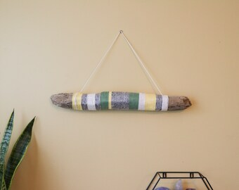 Yarn Wrapped Driftwood Wall Decor